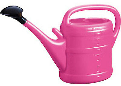 10 Litre Green Wash Essential Watering Can Garden Rose Nozzle Watering Tool Pink