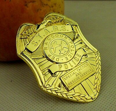 Metal Resident Evil Stars S.t.a.r.s. Raccoon Police Badge Clip Golden -236