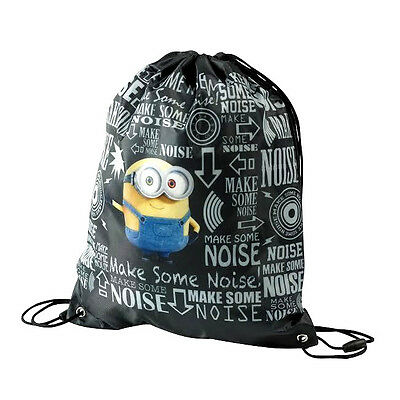 Official Minions Despicable Me Boys Trainer Gym Pe Sports Kit Drawstring Bag