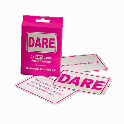 24 Dare Cards Fun & Frolics - Hen Party Accessories + Free Postage