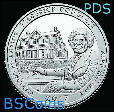 2017 PDS ATB Qrtrs - Frederick Douglass, DC - BU THREE Coin set - Ship TODAY!!