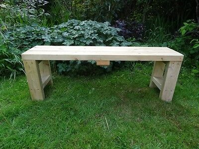 Handmade Wooden Bench Garden Porch Kitchen Dining