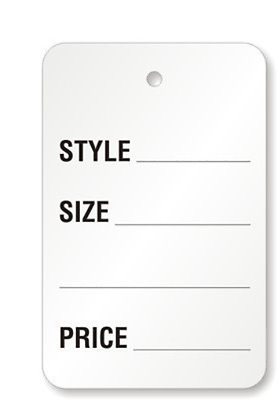 Metronic Price Tags, Perforrated Merchandise Marking Tags, One-Part Paper Tags,