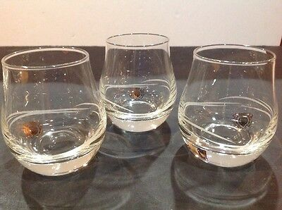3 George & J. G. Smith Glenlivet Etched Glasses Single Malt Snifters