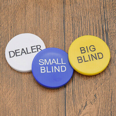 Texas hold'em Buttons Poker Chips Small Blind Big Blind Dealer Play Game Tool