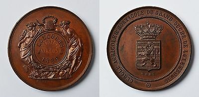 Medaille Bronze Luxemburg 1886 Concours Section Avicole signiert Hart