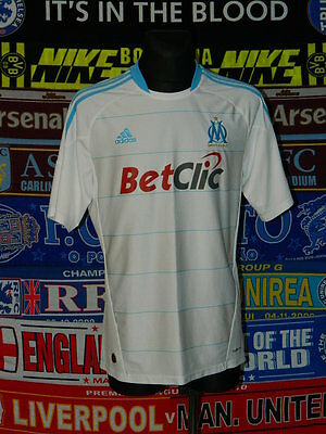 5/5 Olympique Marseille adults L 2010 MINT football shirt jersey trikot maillot