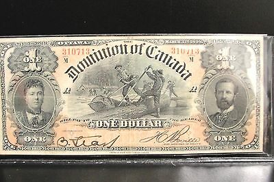1898 Dominion of Canada $1 Dollar Bank Note * Crisp High Grade Bill *