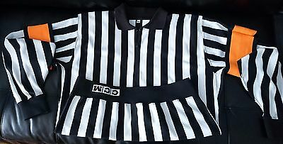 Official CCM NHL Referee Jersey with detachable arm bands