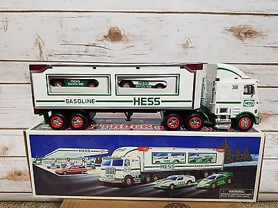 1997 Hess Toy Truck and Racers New in Box Free Shipping