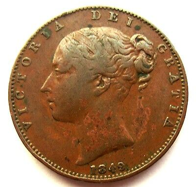 Victoria 1849 farthing