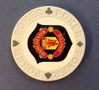 Manchester United Poker Chip Golf Ball Marker Card Guard Man Utd MUFC NEW