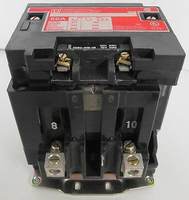 Square D 8903SPG1 Lighting Contactor 60A