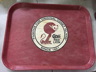 Caris' Red Lion Coney Island Advertising Serving Tray ~  Bay City, Michigan