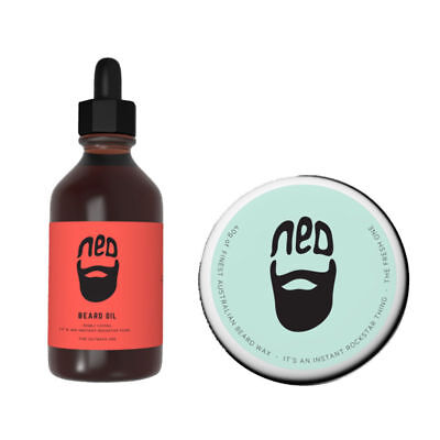 NED Beard Outback Oil 30ml & The fresh one Beard Wax 40ml Duo Pack!!!!