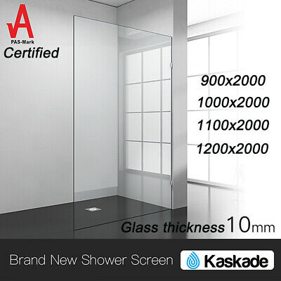 *PICKUP ONLY* Regtangle Frameless 10mm thick Safety Glass Shower Screen 2M Glass