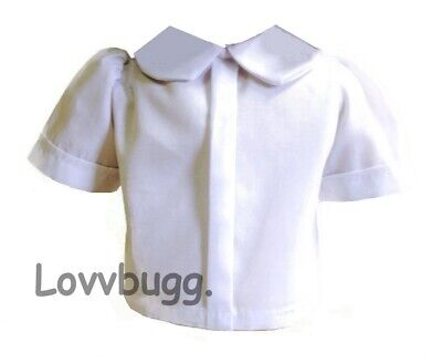 """White Blouse for American Girl 18"""" Doll Clothes WIDEST VARIETY & TRUE US SELLER!"""