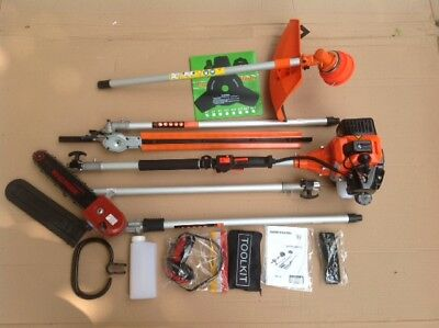 """LONG REACH Petrol swivel Chainsaw, 22"""" Trimmer, Strimmer & Ext. up to 3 M 9S"""
