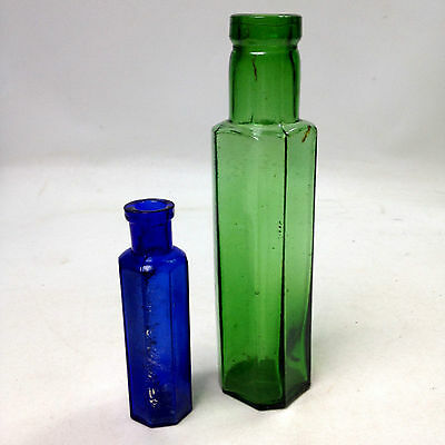 Lot of 2 x VINTAGE APOTHECARY PHARMACY BOTTLES