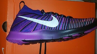 hot sales 0735b ce8ad Nike Free Tr Force Flyknit 833275 451 Black-Purple-Pink (Men s Sz 11.5