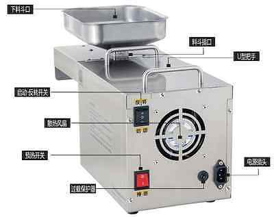 450W 110V/220V Automatic  Oil Press Machine food grade 304 Stainless Steel Cold