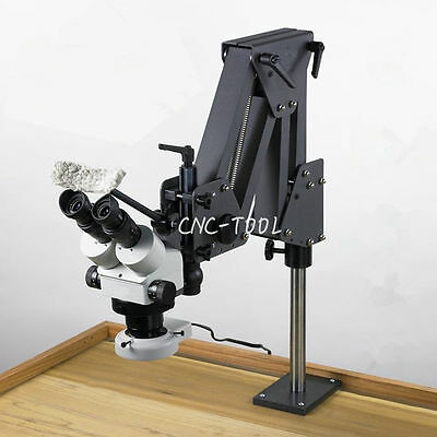 Micro Inlaid Mirror Micro-setting Microscope Jewelry Tools Equipment w/ Stand