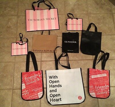 Lot of Lululemon Shopping Bags and More