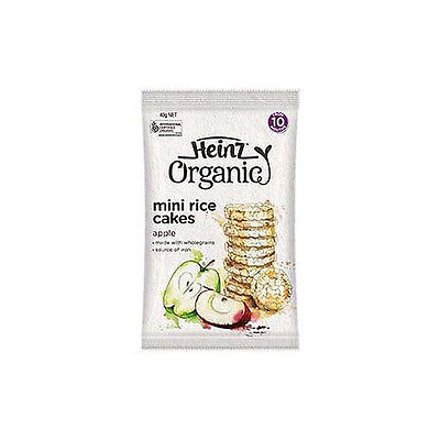 Heinz Certified Organic Mini Rice Cakes Apple Flavour 40G From 10 Months +