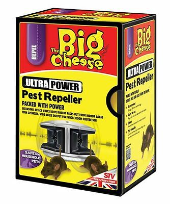 The Big Cheese PEST REPELLER Ultra Power Twin Speakers for Mice and Rodents