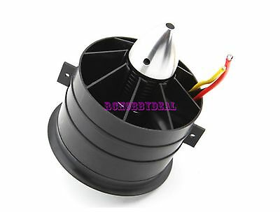 90mm Ducted Fan 11 Blades with EDF 3553 motor kv1450 for RC Aircraft