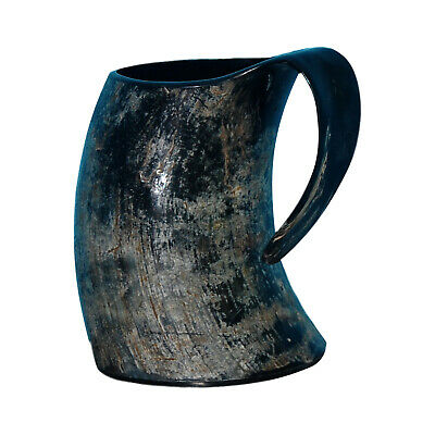 Real Ox Horn Viking Drinking Mug Cups Ale Beer Wine Goblet Tankard Mead Size 6''