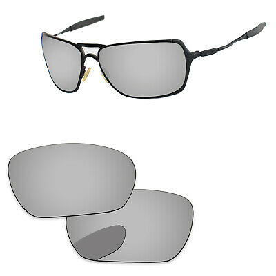 Chrome Silver Mirrored Polarized Replacement Lenses For-Oakley Inmate Sunglasses