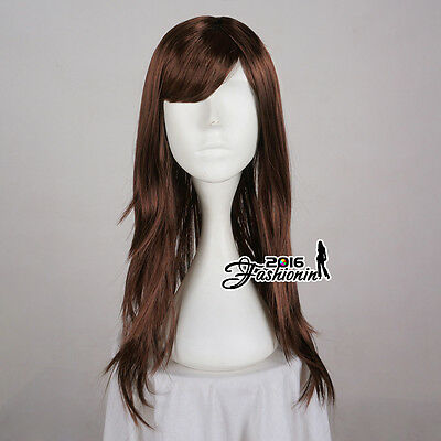 Straight Long 60cm Brown New Ladies Full Wig Anime Hair Cosplay Women Party Wig