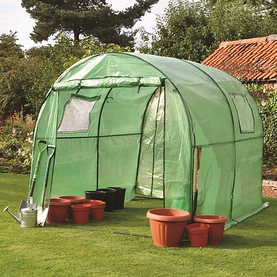 Greenhouse Polytunnel Powder Coated Steel Frame Poly Tunnel Garden Grow 3M X 2M