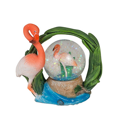 New Home Decor Snow Dome Resin Dome Flamingoes 9X4.9X8.5Cm