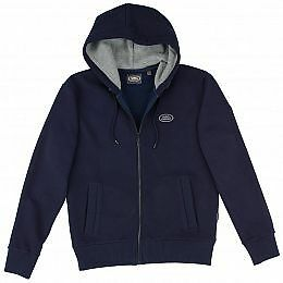 Land Rover Mens Hoodie Genuine Merchandise Navy Various Sizes Available