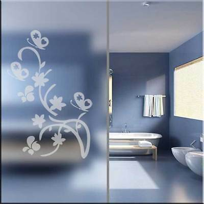 Frosted decorative butterfly stickers,Bathroom wall,Door glass,Shower screen