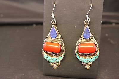 Vintage Nepalese Earrings Handcrafted Ethnic Tribal Authentic Gypsy