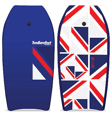 "Two Bare Feet Britannia 41"" Bodyboard + Leash Set Adults/Kids Boogie Board Surf"