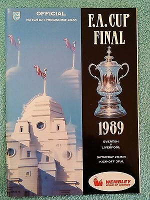 1989 - FA CUP FINAL PROGRAMME - EVERTON v LIVERPOOL - V.G CONDITION