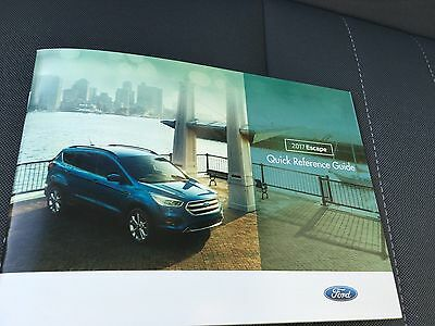 2017 Ford Escape 24-page Quick Reference Guide Original Sales Brochure