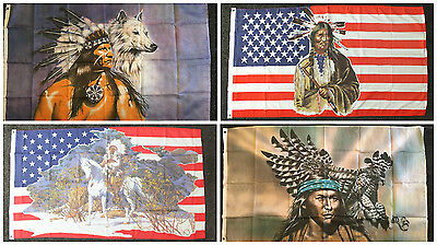 USA Indian Flag Line/Barn Dance Native American Cowboy Country & Western US Wolf