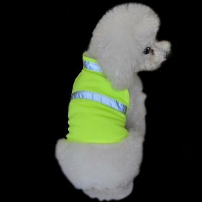 Pet Dog High Visibility Yellow Reflective Safety Clothes Coat Apparel Size S-L