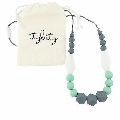 Baby Teething Necklace for Mom, Silicone Teething Beads, 100% BPA Free