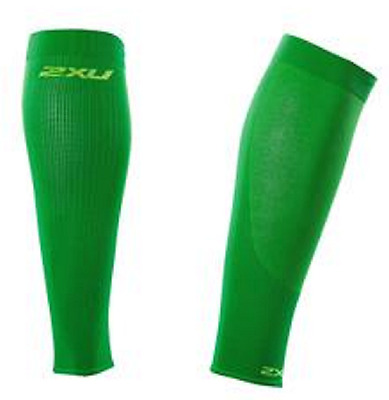 NIB sealed 2XU Compression Performance Run Calf Sleeves Unisex, Green, Medium