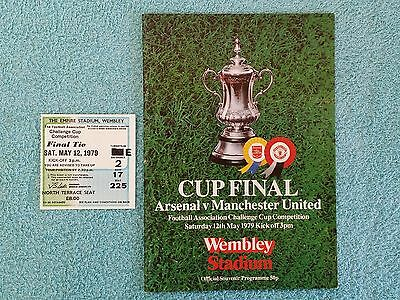 1979 - FA CUP FINAL PROGRAMME + MATCH TICKET - ARSENAL v MANCHESTER UTD
