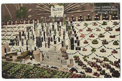 VANCOUVER Exhibition of British Columbia Products, Old Postcard Unused