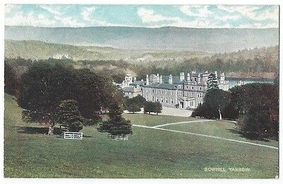 BOWHILL Yarrow, Selkirkshire, Old Postcard by AR Edwards, Unused