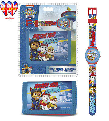 Original Paw Patrol Digital Watch+Wallet,Official Licensed,Children Gift Set .