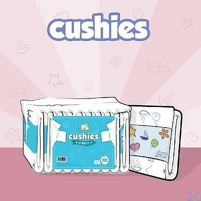 ABU Cushies v2 Large ABDL Adult Printed Nappies/Diapers